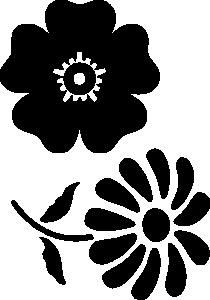 Цветы трафарет для вырезания